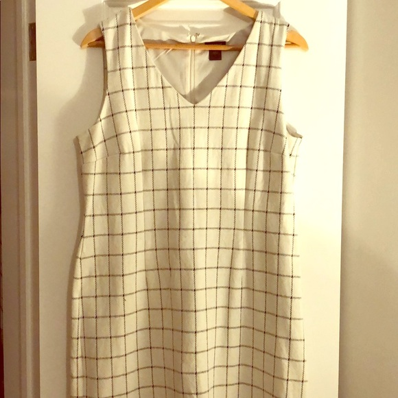black and white Ann Taylor checkered dress